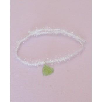 """Bracelet, coeur vert """"version givrée"""""""