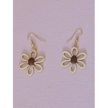 Boucles d'oreilles, fleur de café