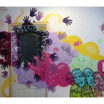 Fresque dans un salon