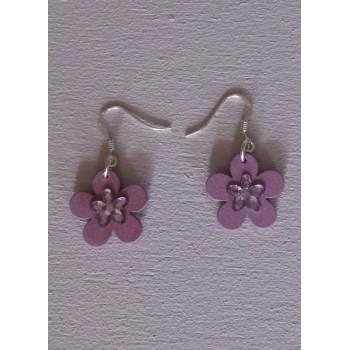 Boucles d'oreilles, Lilas