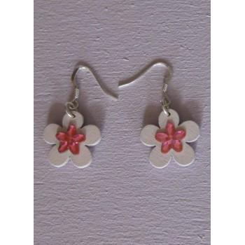 Boucles d'oreilles, Fleur de Cerisier
