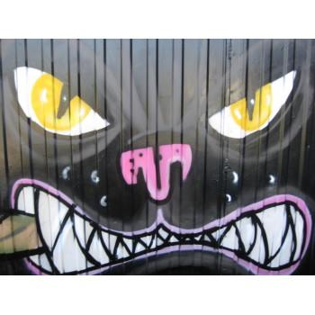 Fresque dans un garage