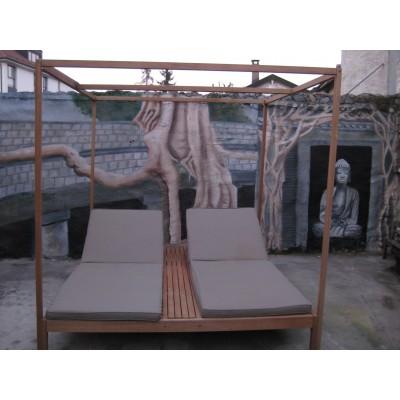fresque sur un mur de jardin. Black Bedroom Furniture Sets. Home Design Ideas