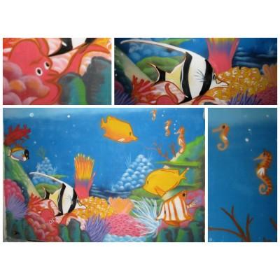Fresque dans une chambre d'enfant
