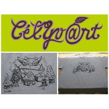Tee-shirt personnalisé à thème, numéroté & signé
