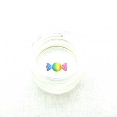 Petit pot bleu, double fond déco bonbon multicolor