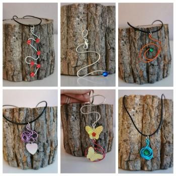 Bijoux & accessoires en fil d'aluminium